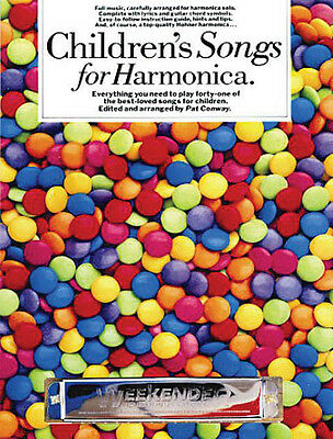 Children's Songs for Harmonica Beginner Harp Sheet Music 41 Easy Tunes Book NEW