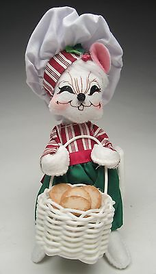 Annalee Christmas New for 2016 Mobility Doll 6 in. Cookie Delivery Mouse Smiling