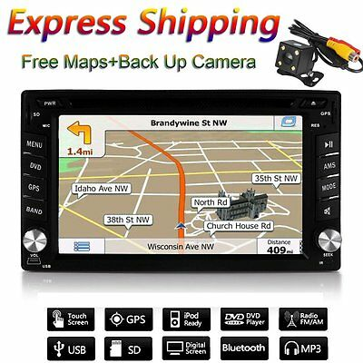 "AUTORADIO UNIVERSALE 6.2"" Touch Screen 2 Din Navigatore /MP3/BLUETOOTH/GPS/DVD"