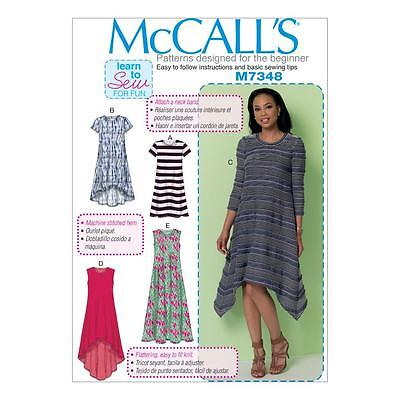 McCALL'S SEWING PATTERN MISSES' PULLOVER DRESS SIZE XSM - XXL M7348