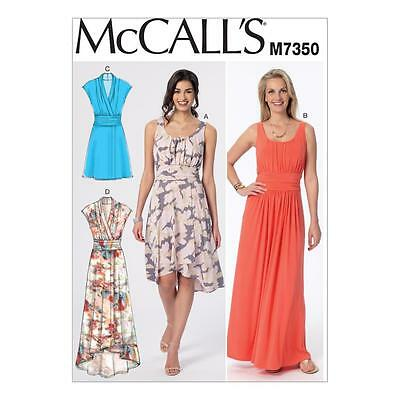 McCALL'S SEWING PATTERN MISSES' DRESS DRESSES SIZE 6 - 22 M7350