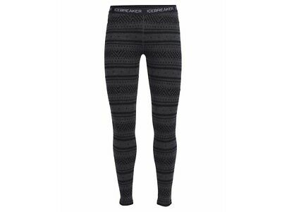 Icebreaker Vertex Leggings Icon Fairisle Damen Funktionsbekleidung jet black