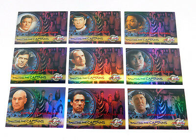 2000 Skybox Star Trek Cinema 2000 Saluting The Captains Rare Chase Card Set (10)