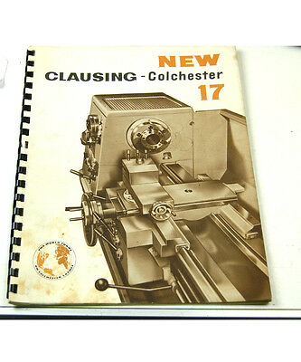 Clausing Colchester 17 Manual  (W-4-Box 9-1-Rct)