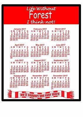 Nottingham Forest - 2017 Calendar mouse mat