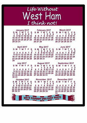 West Ham - 2017 Calendar mouse mat