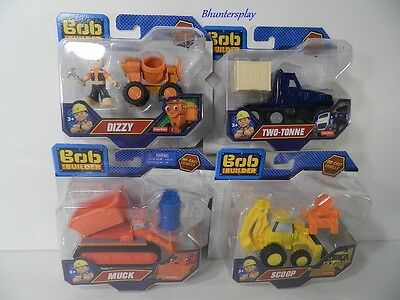 Bob The Builder Die Cast Vehicles Two Tonne Muck Scoop & Dizzy Lot Of 4