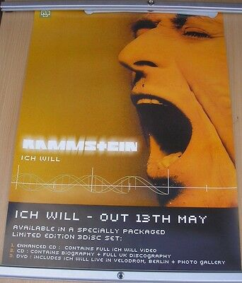 "RAMMSTEIN 28"" x 20"" Mutter original promo poster 2001 double sided"