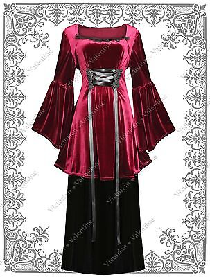 Steampunk Vintage Inspired Gothic Victorian Renaissance Velvet Dress Tunic Skirt