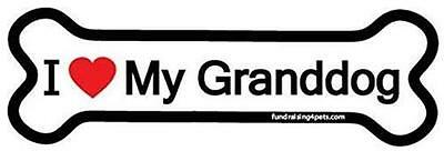 "I Love My Granddog Bone Car Fridge Plastic Magnet 2"" X 7""  Dog Gift Puppy"