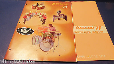 Vintage Ludwig Drums Catalog 1975 Vistalite,mach 5,jazzette With Price List Vg