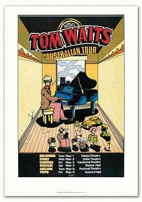 Tom Waits 1978 Australia Tour Concert Poster Reprint
