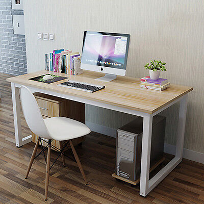 Office Home Computer Laptop Writing Student Study Furniture Desk Table White AU