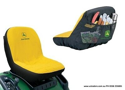 "John Deere Ride On Mower Seat Cover-Suit up to 15"" Seat"
