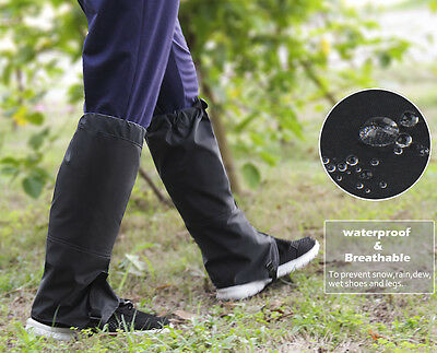 Outdoor Legging Gaiters Cover Protection Hiking Camping Chaps Hunting Snow Black
