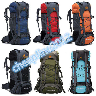 Newest Extra Large 60 Outdoor Travel Camping Hiking Rucksack Backpack Bag UK