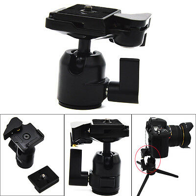 360 Rotate Camera Camcorder Tripod Monopod Ball Head Quick Release Plate