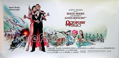 OCTOPUSSY 1983 Roger Moore JAMES BOND Maud Adams UK 24x12 POSTER
