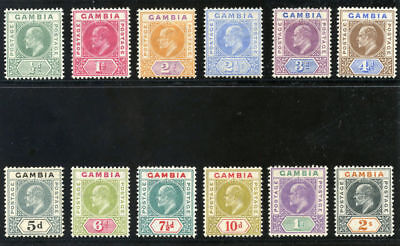 Gambia 1904 KEVII set complete MLH. SG 57-68.