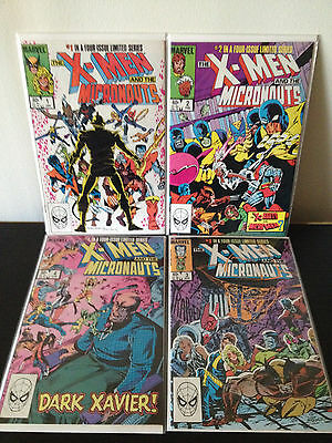X-Men And The Micronaughts 1 2 3 4 (Limited Series / Complete) High Grade/unread