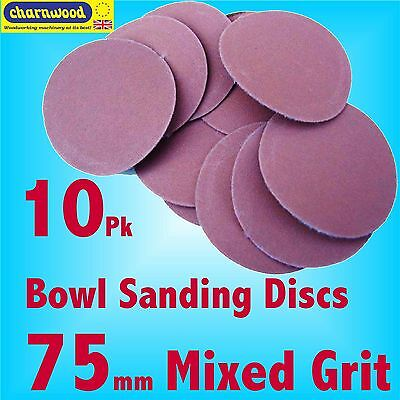 Charnwood SD75MIX 75mm  Mixed grit Sanding Discs for BS10 Bowl Sanding Kit