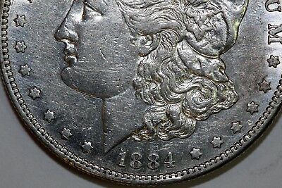 Better Date 1884-S Morgan Silver Dollar that Grades About Uncirculated (MDX2430)