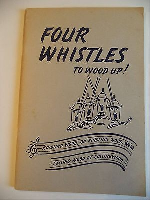 Book Four Whistles To Wood-up Stories Northern Railway Canada Frank Walker 1953