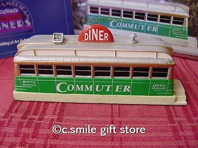 Lefton's Great American Diners Collection *THE COMMUTER DINER* Roadside USA MIB