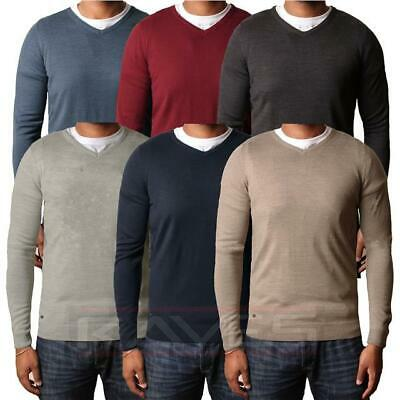 Mens Jumper Fashion V-Neck Sweater Knitwear Pullover Kensington HAMAR