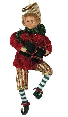 """8"""" Attractive Christmas Holiday Hanging Ornament Elf E50805"""