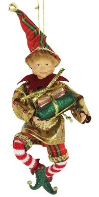 """8"""" Attractive Christmas Holiday Hanging Ornament Elf E40806"""