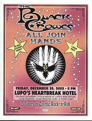 Black Crowes Concert Flyer Providence Lupos 2005