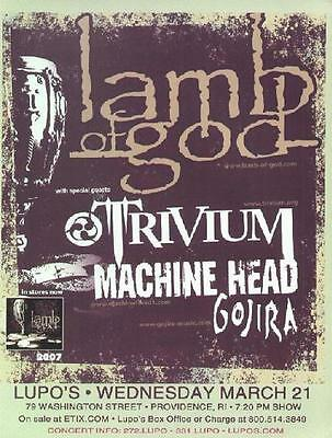 Lamb Of God Concert Flyer  Providence Lupos 2007