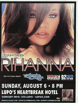 Rihanna Concert Flyer Providence Lupos 2006