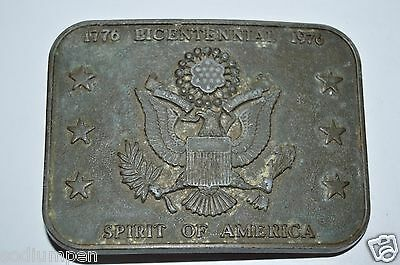 Vintage 1976 USA United States of America Seal Brass Tone Belt Buckle RARE