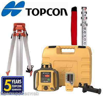 Topcon RL-H4C Self-Leveling Rotary Grade Laser Level W tripod and 14' Rod Tenths