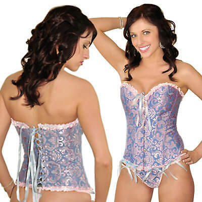 Angel Lingerie Strapless Lace Corset Bustier G-String PLUS SIZES AVAILABLE
