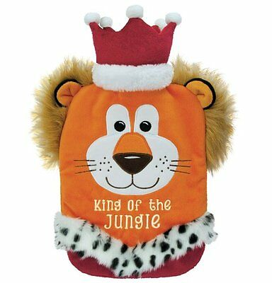 Aroma Home FLEECE Cover HOT WATER BOTTLE Lion KING OF THE JUNGLE Gift Boxed