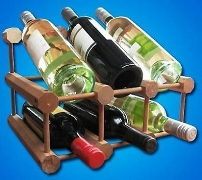 Xpanda Solid Malaysian Hardoood Timber Wooden Wine Rack Storage Cellar Kit NEW