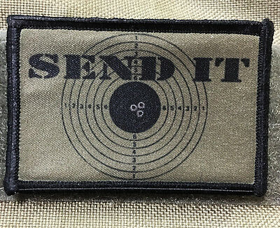 Send It Morale Patch Tactical Military Army Badge Hook Flag