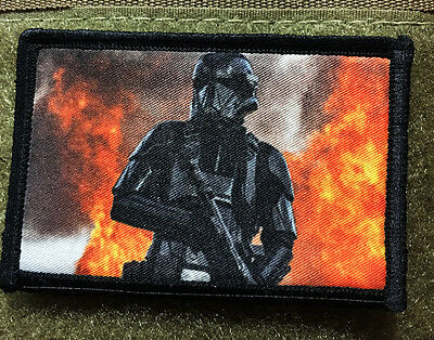 Star Wars Rogue One Stormtrooper Morale Patch Tactical Military Army Badge Hook