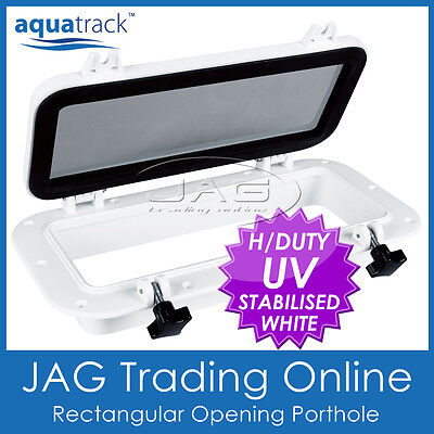 AQUATRACK RECTANGULAR OPENING PORTHOLE-Marine/Boat Portlight Access Hatch Window
