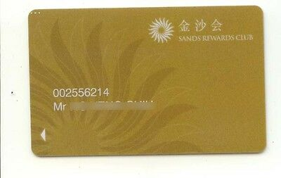 Macau Sands Casino Hotel NEW slot Card RARE