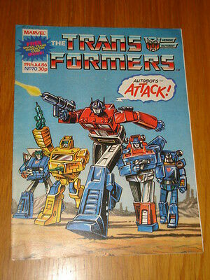 Transformers British Weekly #70 Marvel Uk Comic 19Th July 1986