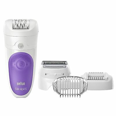 Braun Silk Epil 5541 Wet and Dry Cordless Epilator with Shaver Head NEW