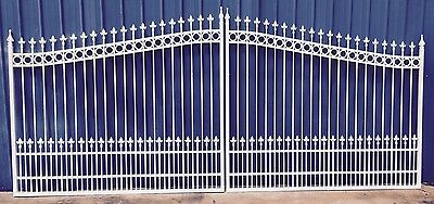 Aluminum Driveway Entry Gate 18 Foot Wide Dual Swing. Commercial - Residential