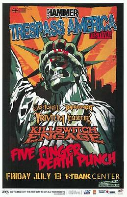 Five Finger Death Punch Killswitch Engage Broomfield 2012 Concert Poster Metal