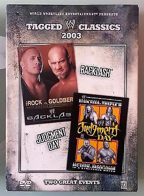 wwf / wwe TAGGED CLASSICS 2003 backlash / judgment day    DVD