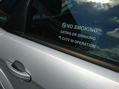 NO SMOKING EATING OR DRINKING CCTV IN OPERATION Taxi Sticker For Inside