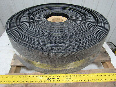 "1 Ply Black Rough Top Incline Conveyor Belt 208' X 8"" X 0.245"" Thick"